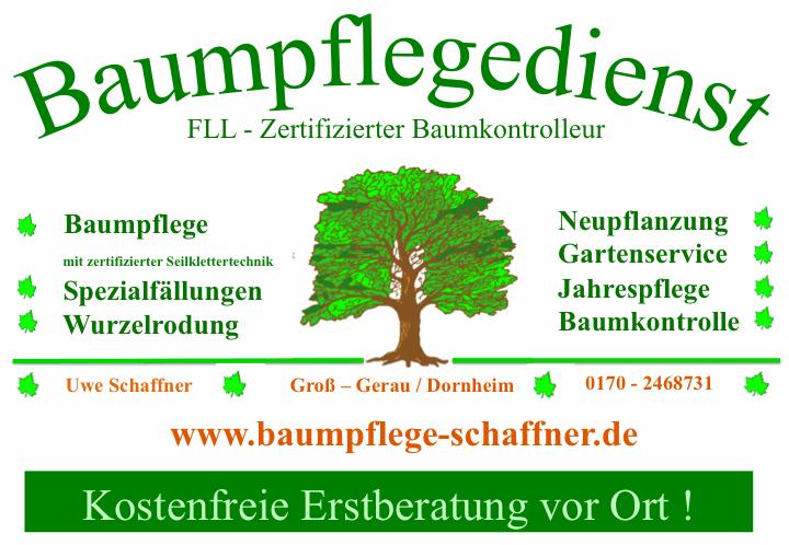 Baumpflege Schaffner Visitenkarte